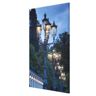 Impressão Em Tela Lâmpadas de rua na noite, Alemanha
