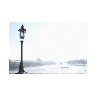 Impressão Em Tela Lamppost na ponte de Charles (Praga)