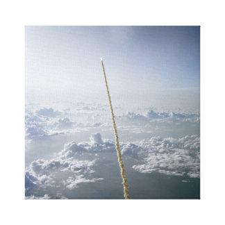 Impressão Em Tela Lançamento Cabo Canaveral do vaivém espacial do