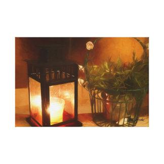 Impressão Em Tela Lanterna e Flowerpot