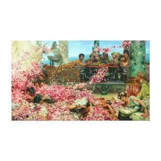 Impressão Em Tela Lawrence Alma-Tadema os rosas de Heliogabalus