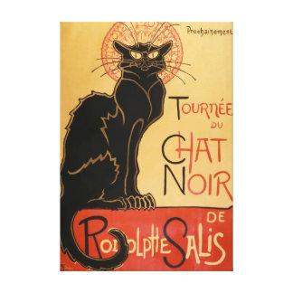 Impressão Em Tela Le Conversa Noir (o gato preto)