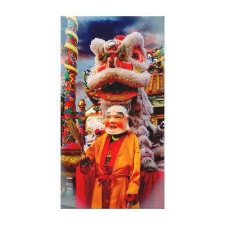 Impressão Em Tela Leão chinês e o mestre do leão