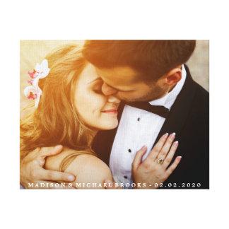 Impressão Em Tela Lembrança elegante da foto do casal do casamento