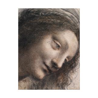 Impressão Em Tela Leonardo da Vinci a cabeça do Virgin