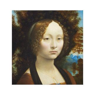 Impressão Em Tela Leonardo da Vinci Ginevra de' Benci