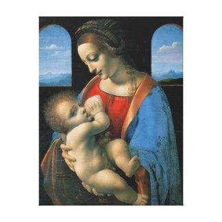 Impressão Em Tela Leonardo da Vinci Madonna Litta