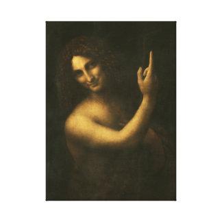 Impressão Em Tela Leonardo da Vinci St John o baptista