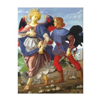 Impressão Em Tela Leonardo da Vinci Tobias e o anjo