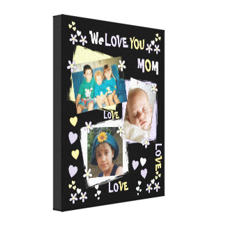 Impressão Em Tela Lilac personalizado nós amamo-lo foto da mamã