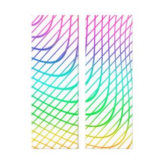 Impressão Em Tela Linha arte colorida abstrata moderna