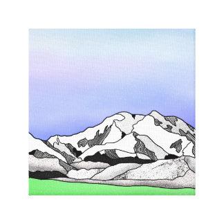 Impressão Em Tela Linha paisagem da cor da água de Denali da arte