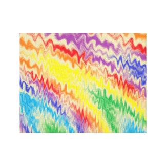 Impressão Em Tela Linhas de fogo Raging do arco-íris