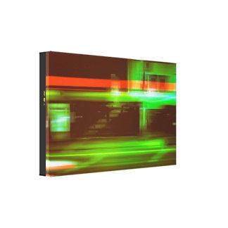 Impressão Em Tela Linhas de luz