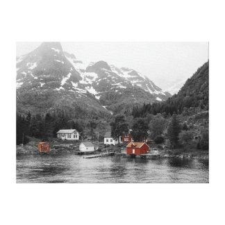 Impressão Em Tela Linho - Noruega (Raftsund coés fiorde de duende)