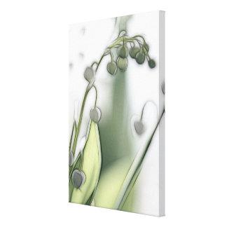 Impressão Em Tela Lírio da repetição da flor do vale