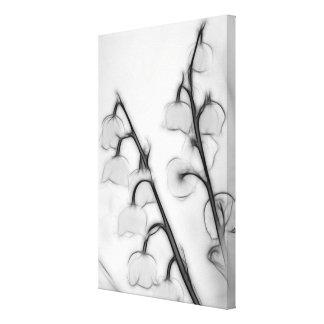 Impressão Em Tela Lírio do esboço do duo da haste da flor do vale