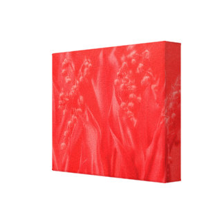 Impressão Em Tela Lírio do vale no vermelho