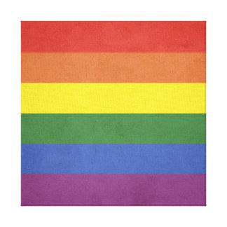 Impressão Em Tela Listras do arco-íris