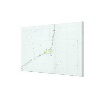 Impressão Em Tela Litoral nacional Mapa de Hatteras do cabo (1985)