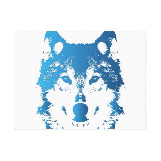Impressão Em Tela Lobo do azul de gelo da ilustração