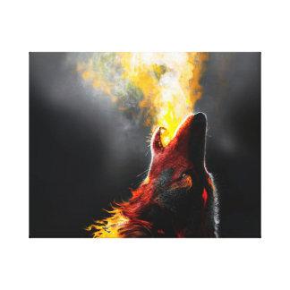 Impressão Em Tela Lobo do fogo