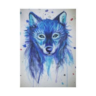 Impressão Em Tela Lobo do Watercolour
