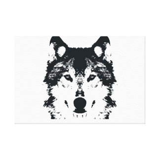 Impressão Em Tela Lobo preto da ilustração