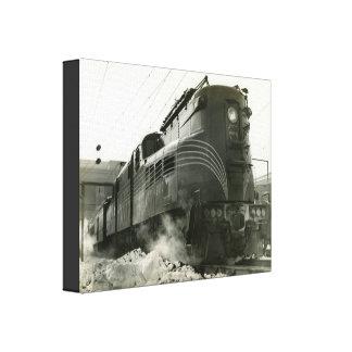 Impressão Em Tela Locomotiva GG-1 #4800 da estrada de ferro de