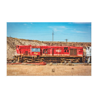 Impressão Em Tela Locomotiva quebrada do monte