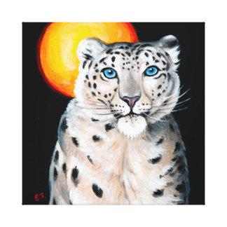 Impressão Em Tela Lua do leopardo de neve