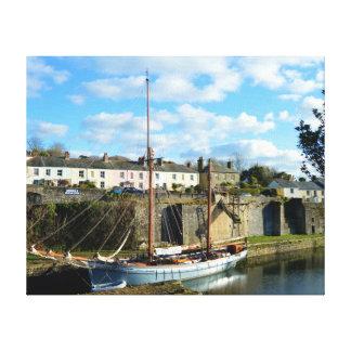 Impressão Em Tela Lugar de Charlestown Cornualha Inglaterra Poldark