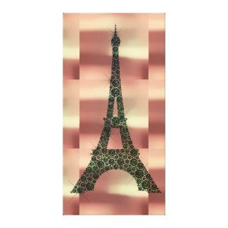 Impressão Em Tela Luxo tropical da geometria de Paris do francês da