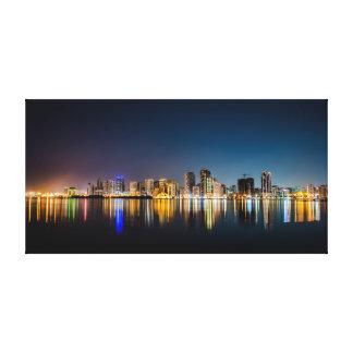 Impressão Em Tela Luzes da cidade