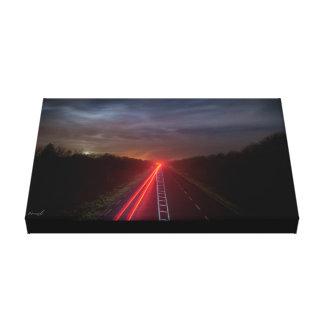 Impressão Em Tela Luzes da estrada