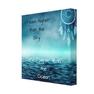 Impressão Em Tela Mais alto ideais do que o coletor e o oceano do