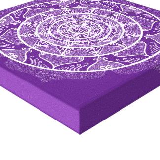 Impressão Em Tela Mandala da beringela