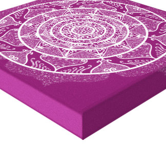 Impressão Em Tela Mandala da dália