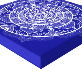 Impressão Em Tela Mandala da safira