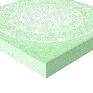 Impressão Em Tela Mandala de Seafoam