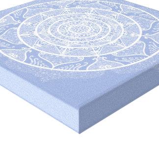 Impressão Em Tela Mandala do mirtilo