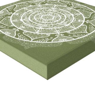Impressão Em Tela Mandala do musgo