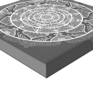 Impressão Em Tela Mandala do peixe-boi
