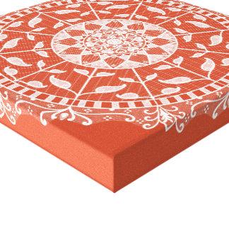 Impressão Em Tela Mandala do Terracotta