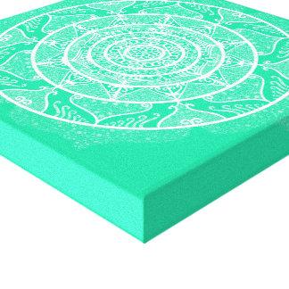 Impressão Em Tela Mandala Minty