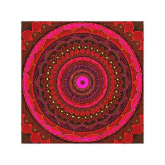 Impressão Em Tela Mandala místico vermelha
