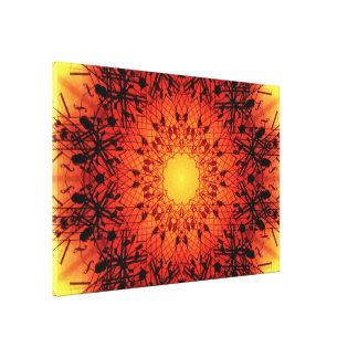 Impressão Em Tela Mandala musical vibrante