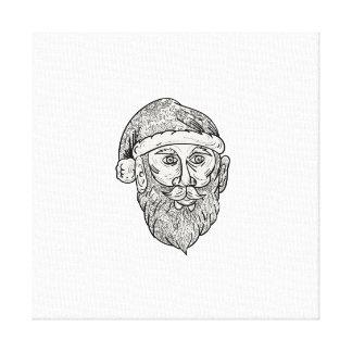Impressão Em Tela Mandala principal de Papai Noel
