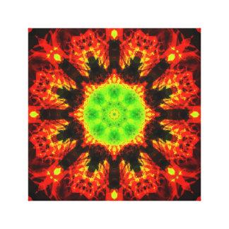 Impressão Em Tela Mandala verde do sol