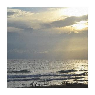 Impressão Em Tela Manhã do oceano